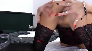 Awesome Mature Stocking Heels Masturbating
