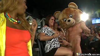Dancing Bear Gives Facials