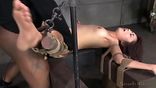Rope Bound Marica Hase Fucked By A Black Cock