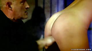 Lovely Naked Slave Blonde Vanda Lust With Perky Tits Gets