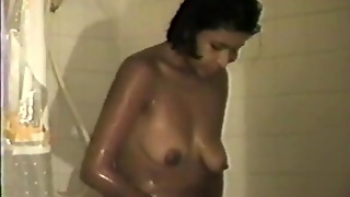 Hairy Woman Is In Shower