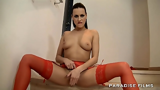 Paradise Films Horny Babe Fucked On The Stairway