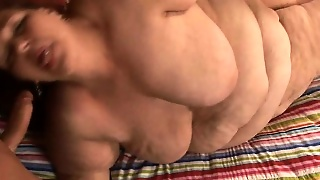 Mature Woman Gets Her Huge Cheeks Spread Wide To Let In A Fat Cock