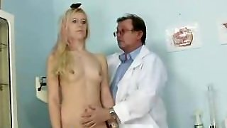 Dirty Doctor Shaving Pussy Of Tiny Blonde Kristyna