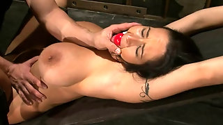 Sexy, Fetish, Submission, Whipped, Carmella, Tits, Gets, Experiences, Dungeon, Brunette, Tied