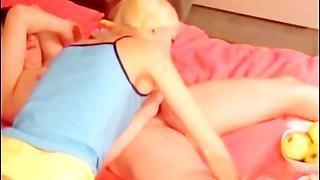 Blonde Skinny Teen Blowjob