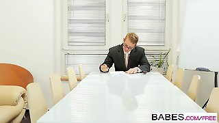 Babe Hd, Learning, Ropes, Doggystyle Hd, Brunette Office, Bab E, Non Hd, Stockings Doggy Style