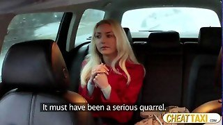 Victoria Gets Fucked In Taxi And Receives A Big Load