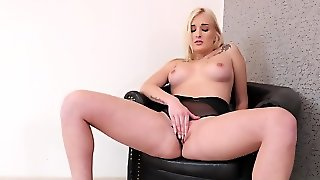 Beautiful Blonde Takes Dildo To Satisfy Burning With Desire Pussy