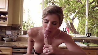 Dirty Milf Punishes Stepson For Ruining Her Special Cake