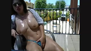 Multiple Orgasm And Squirting In The Balcony