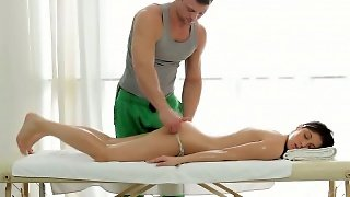 Oiled Teen Gets Fingered