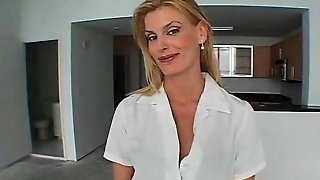 Blonde Milf Strips And Serves Stiff Pecker