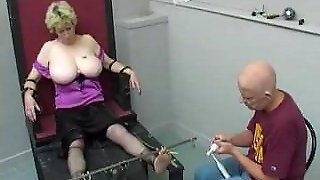 English Granny Tickled