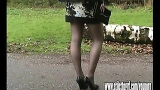 Stiletto Girl Jenna Walks Sexually Wearing Erotic Pair Of High Heel Shoes