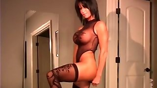 Slutty And Busty Milf Streaptease Tease