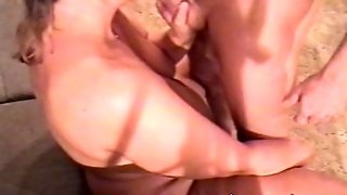 Mature Wife Fucks Husband On Couch