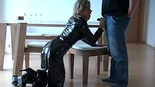 Skirt, German, Fetish, Latex, Handjob