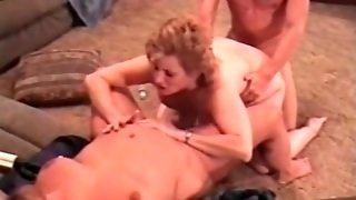 Chubby Mature Fucked From Behind In Threesome