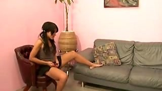 Mean Ball Busting Brunette