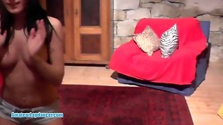 Adorable Lapdance By Petite Czech Brunette