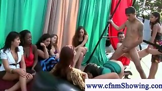 Cfnm Girls Shows How To Eat Pussy In Public