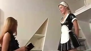 Mistress With Latex Maid Eve