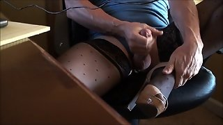 Stockings & Heels With Cumshot
