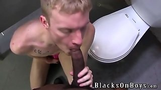 Public Bathroom Interracial Sex With A White Bottom