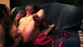 Young Guy Masturbates Pussy Of An Old Woman. Homemade Video.