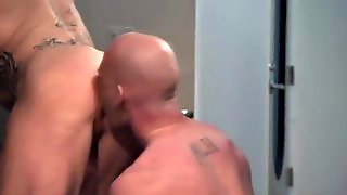 Bald Toned Studs Ejaculation