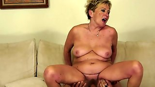 Mature With Gigantic Tits Milks Cum Loaded Meat Stick Of Her Lover