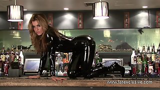 Catalina - Black Latex Catsuit