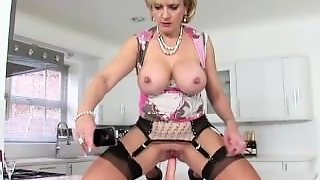 Lady Humps Dildo On Kitchen Table