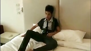 18 Year Old Asian Twink Rides A Massive Dildo