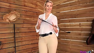 Joi From A Sexy Blonde In Riding Clothes