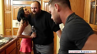 Busty Cheater Audrey Bitoni Fucked In Black Stockings And High Heels