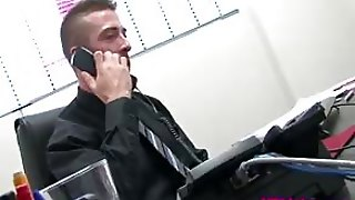 English Jocks Go All Gay In The Office