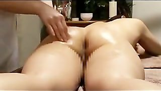 Big Breasted Lesbian Massaged With Lotion