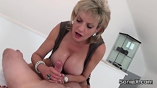 Unfaithful Uk Milf Lady Sonia Shows Off Her Massive Puppies
