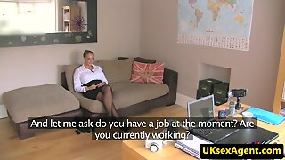 Busty English Amateur Auditions With Blowjob