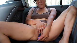 Mikayla In The Back Seat