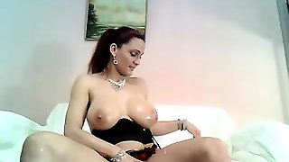 Horny Milf With Big Fake Milk Boobs