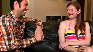 Shy Teen Gives Oral