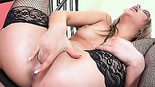 Black Lacy Underwear Is The Only True Love Of This Masturbating Molly