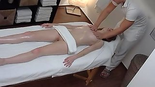 Extreme Passionate Redhead Seduced In Massage