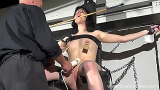 Enslaved Honesty Cabellero Nipple Clamped