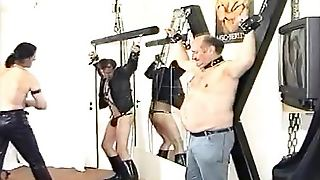 Gay Bdsm With Hard Nip Play, Flogging And Humiliation