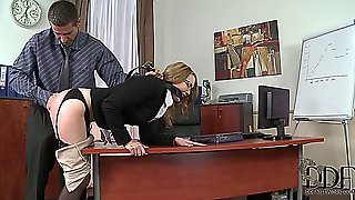 Cute Blonde Taught A Lesson At The Office