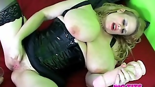 Dildo Fucking Bbw In Latex Lingerie Squirts